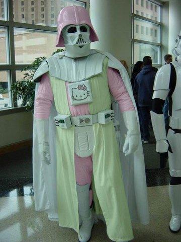 Star Wars odijela-kostimi, kacige, lightsaberi Hello-kitty-darth-vader