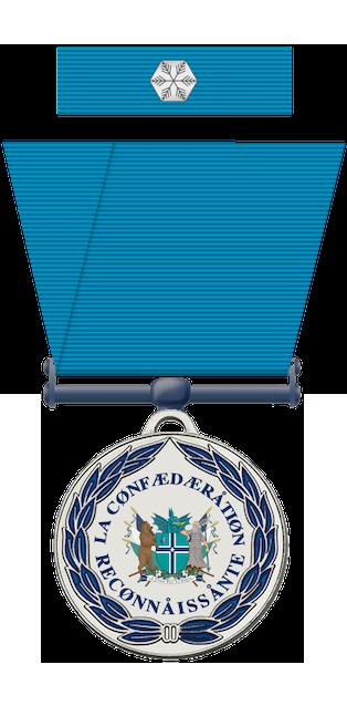 Ambassade de la Confédération de Scanténoisie-Helvetia MedailleReconnaissance