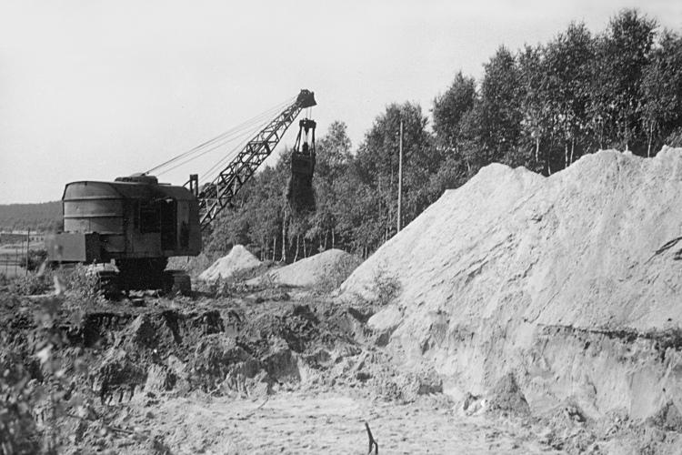 """BÜNGER"""" (Eduard Bünger KG, Düsseldorf) escavatrici WH-A2-054-750"""