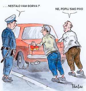 Karikature Pivo