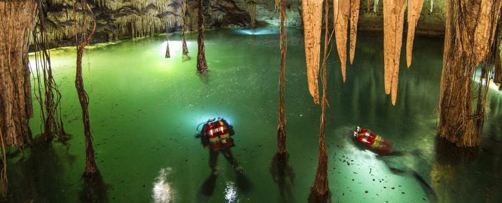 Divers Found The World's Largest Underwater Cave, And It's Full of Maya Secrets  835-mexico-sac-actun-cave-0_1024