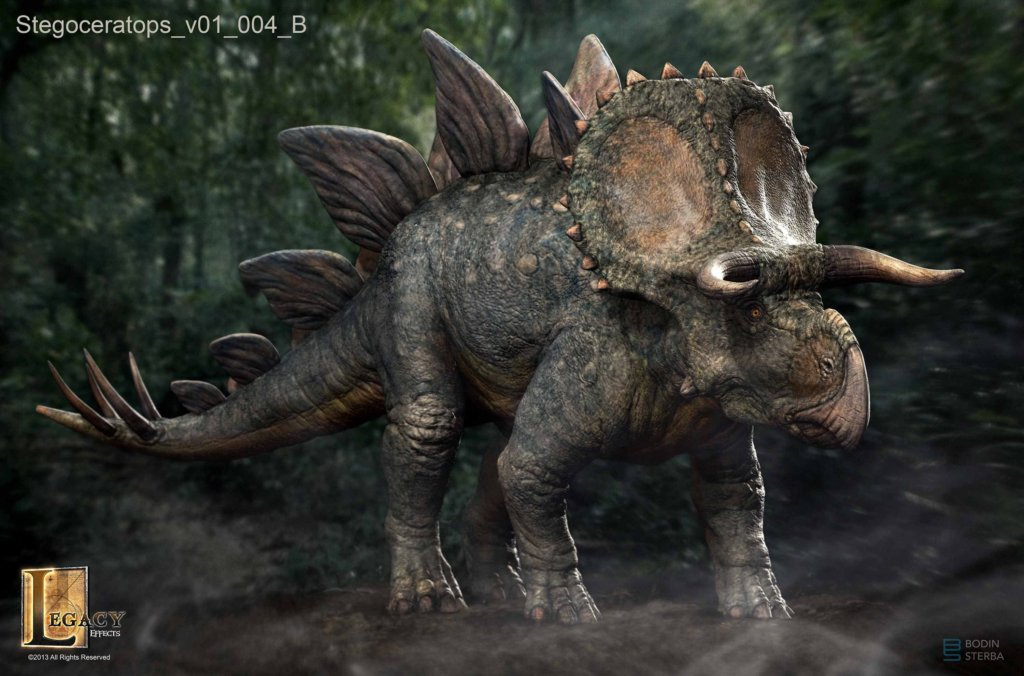 What the Stegoceratops would have looked like if it was in JW. Stegoceratops_v01_004_B-1024x676