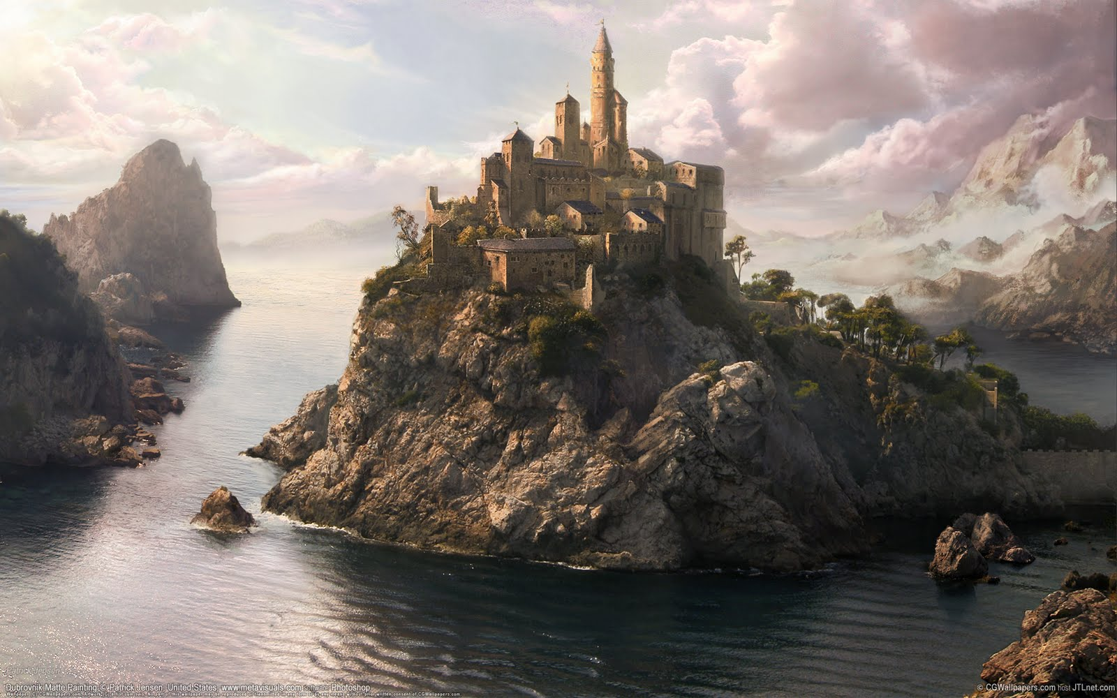 Il Walhalla Fantasy-world-wallpapers-Dubrovnik-Matte-Painting
