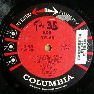 """Bob Dylan Anthology (Plazoleta Edition): Esta semana """"Pat Garret & Billy The Kid (1973)"""" - Página 3 BobDylanUSStereoPromo1Side1"""