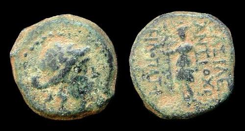 AE 18 seleucida de Antioco IX Kyzikenos Ant9d