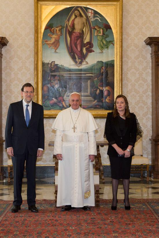 ¿Cuánto mide el Papa Francisco? - Altura - Pope Francis Real height Feancisco-rajoy-y-viri2