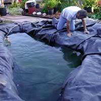 Строительство пруда на своем участке. Декоративный водоем. 6035s