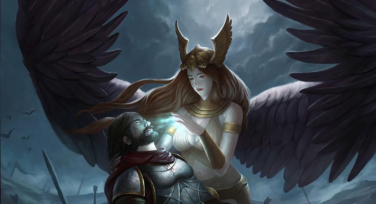 Los ángeles según las creencias Valquiria