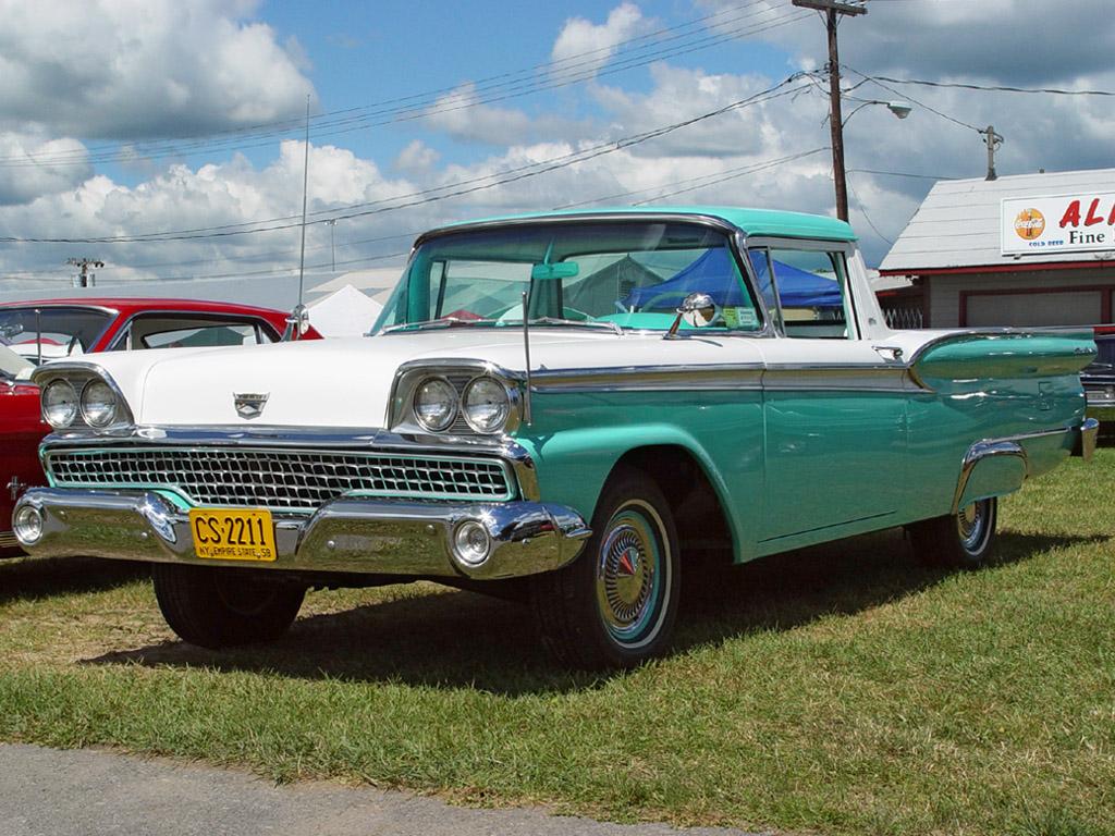 El camino, Ranchero.. et autre truc du genre 1959-Ford-Ranchero-Green-White-fa-sy-1024x768