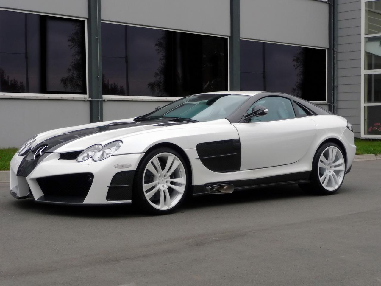 Marche: Mercedes-Benz 2009-Mansory-Mercedes-Benz-McLaren-SLR-Renovatio-Front-And-Side-1280x960