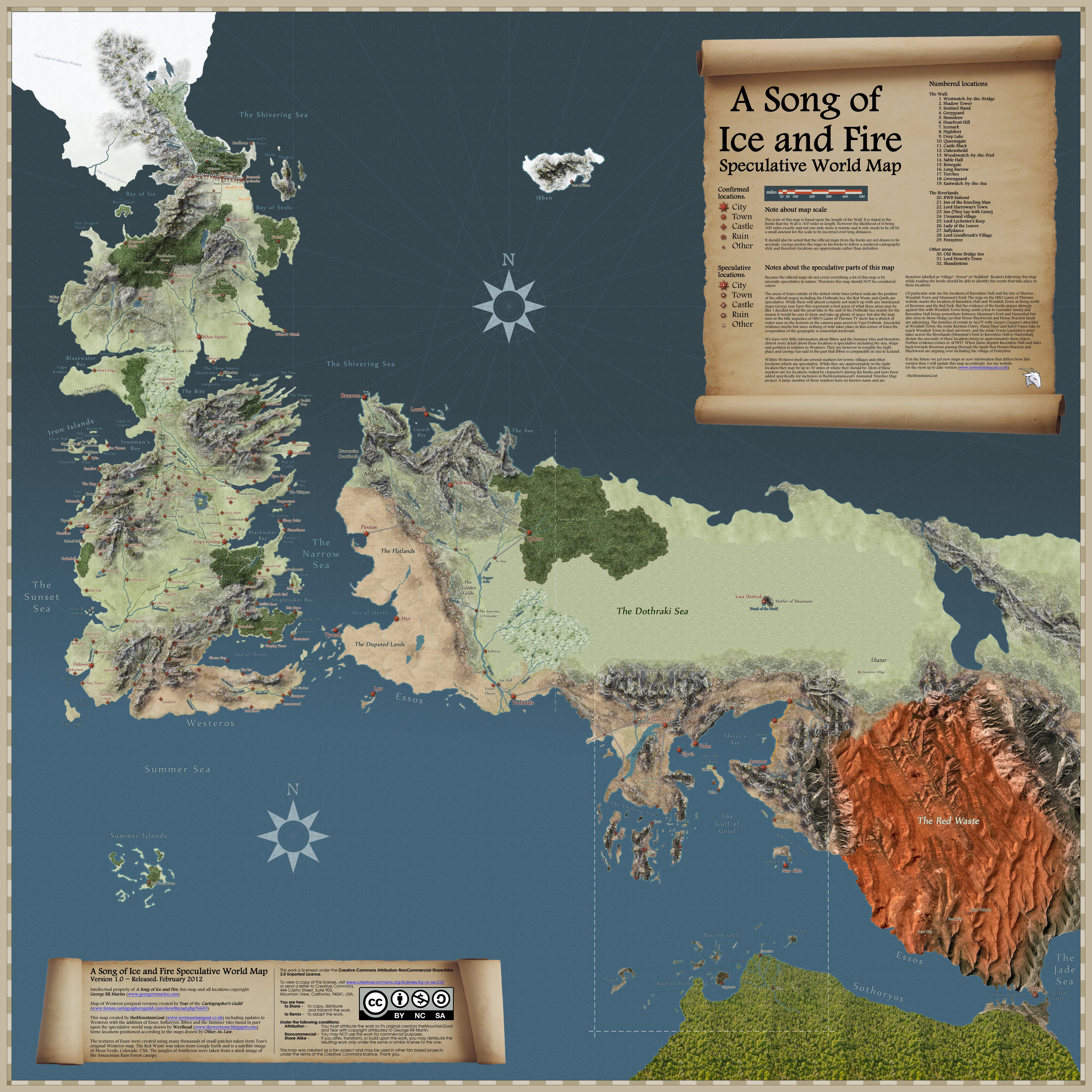 Карти на Вестерос и отвъд Speculative_map