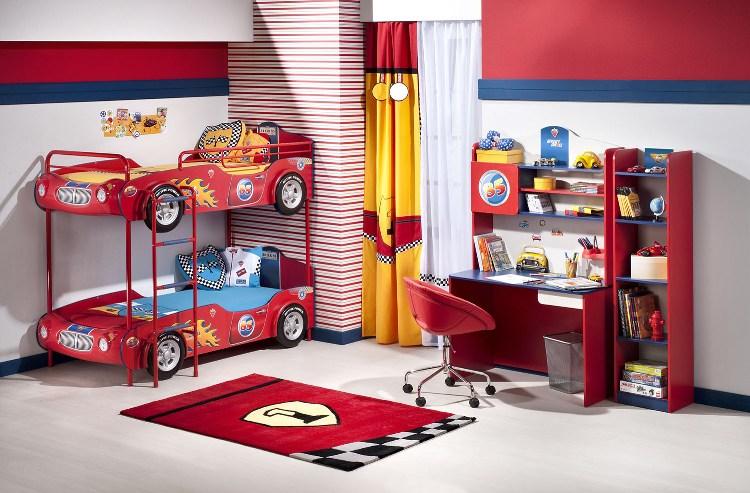 غرف نوم اطفال على شكل سيارة Cilek-mobilya-ranzali-arabali-yatak