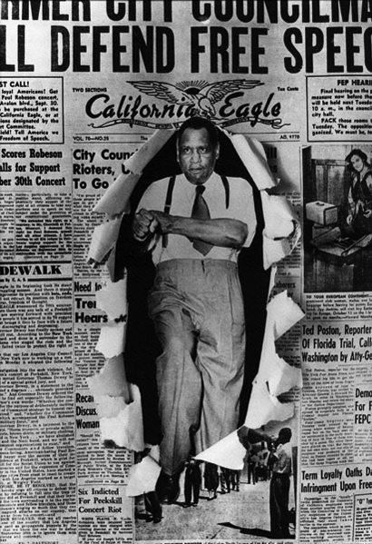 Son de los nuestros:  Paul Robeson Paul-Robeson-bursting-through-the-front-page-of-the-California-Eagle-web1