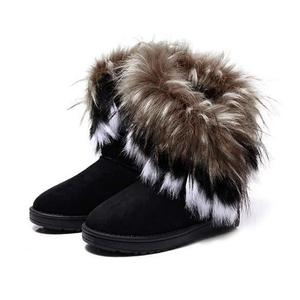 احذية جميلة Bottine-de-neige-femmes-chaude-fausse-fourrure