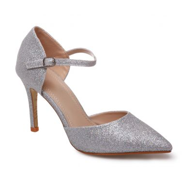 احذية بالكعب العالي Escarpins-argentes-a-paillettes-bout-pointu