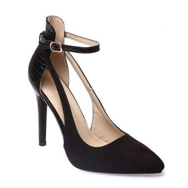احذية بالكعب العالي Escarpins-bi-matiere-noirs-avec-bride-cheville-
