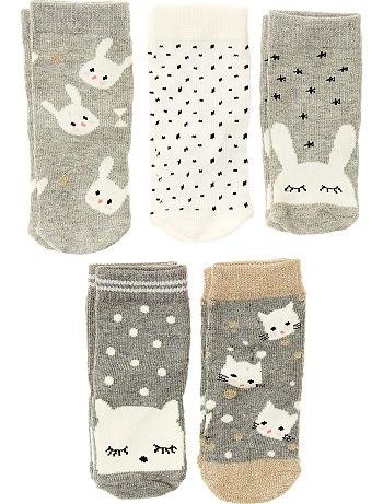 افكار لهدايا الاطفال Lot-de-5-paires-de-chaussettes-gris-bebe-fille-vf347-1-fr1