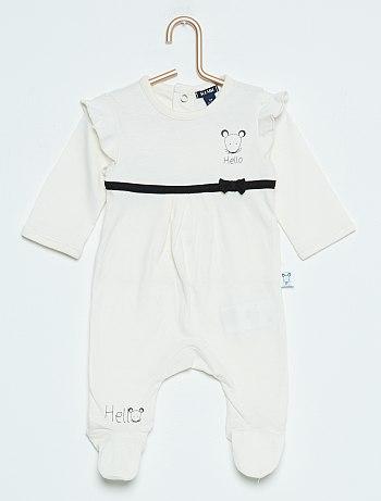 افكار لهدايا الاطفال Pyjama-a-pieds-imprime-souris-ecru-bebe-fille-vh883-1-fr1