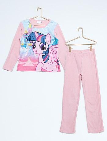 بيجامات للاطفال Pyjama-long-en-velours-mon-petit-poney-rose-fille-vr515-2-fr1