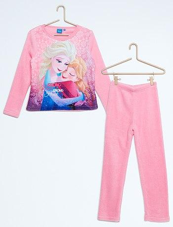 بيجامات للاطفال Pyjama-polaire-long-la-reine-des-neiges-rose-fille-vr505-2-fr1