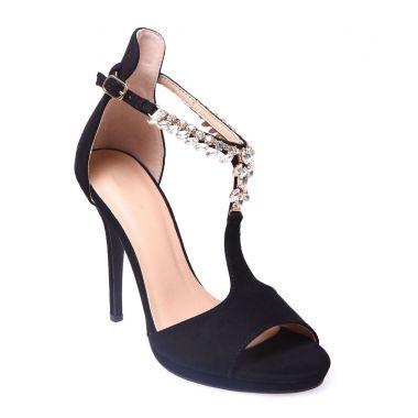 احذية بالكعب العالي Sandales-noires-avec-bride-ornee-de-strass