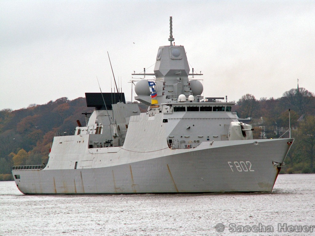 De Zeven Provinciën air defense and command class frigates 316412