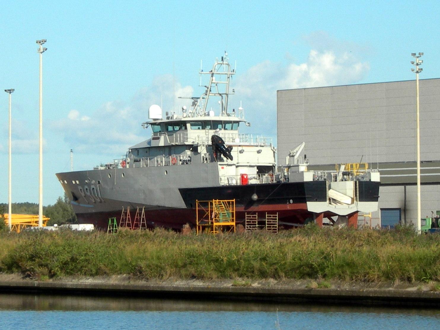 Le P901 CASTOR en cale sèche à Ostende 2329895