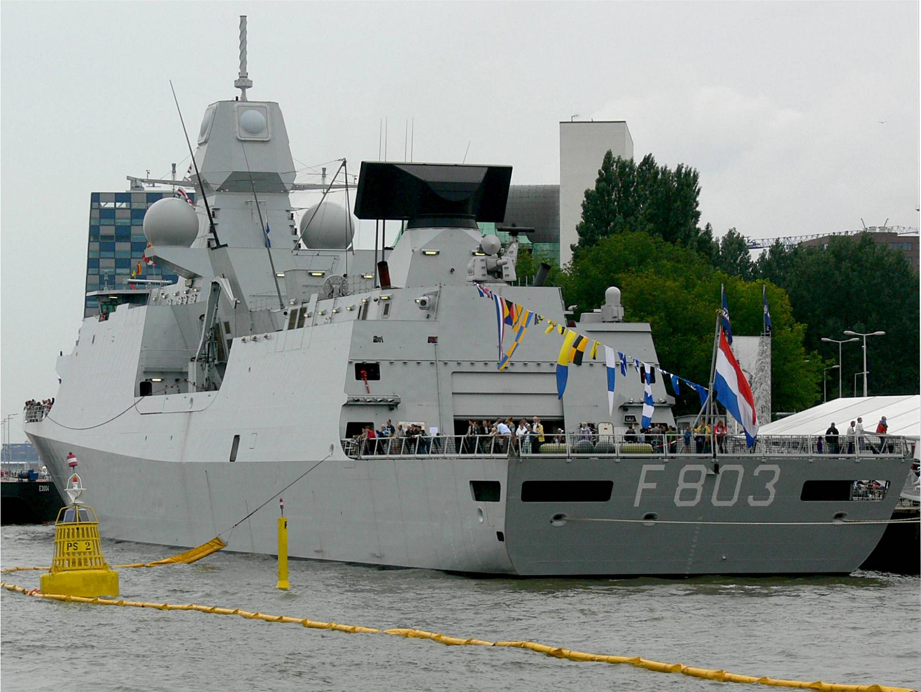 De Zeven Provinciën air defense and command class frigates 284336