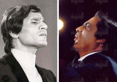 قصة المشهد المهيب بين أحمد زكي والعندليب Halim-zaki-1892