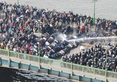بالصور والفيديو // أحياء ذكرى «ثورة الغضب» المكان  « كوبرى قصر النيل»  Kasrnile_clashes
