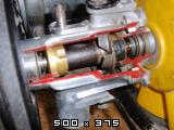Predelan fičkov motor 750 in menjalnik za prikaz delovanja v šolah  Slike11pb271236