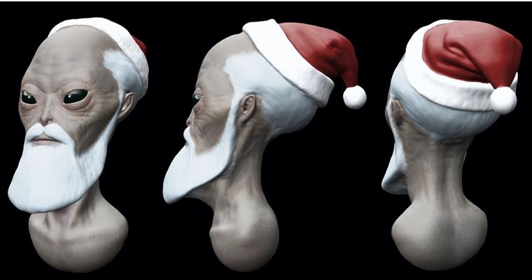 Conte de Noël Alien-Santa