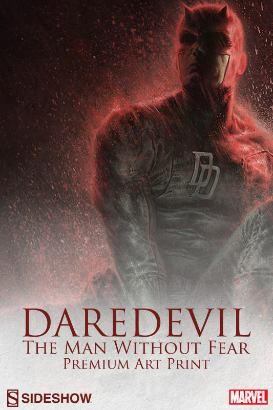 [Sideshow] Daredevil Premium Art Print 500296-daredevil-the-man-without-fear-001