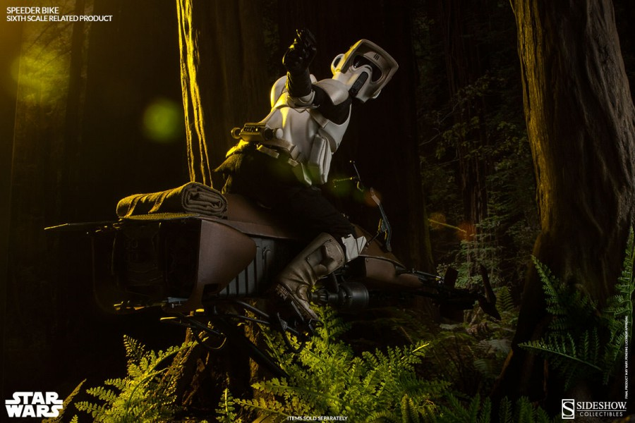 [Sideshow] Sixth Scale Figure| Star Wars: Speeder Bike  100121_press15-900x600