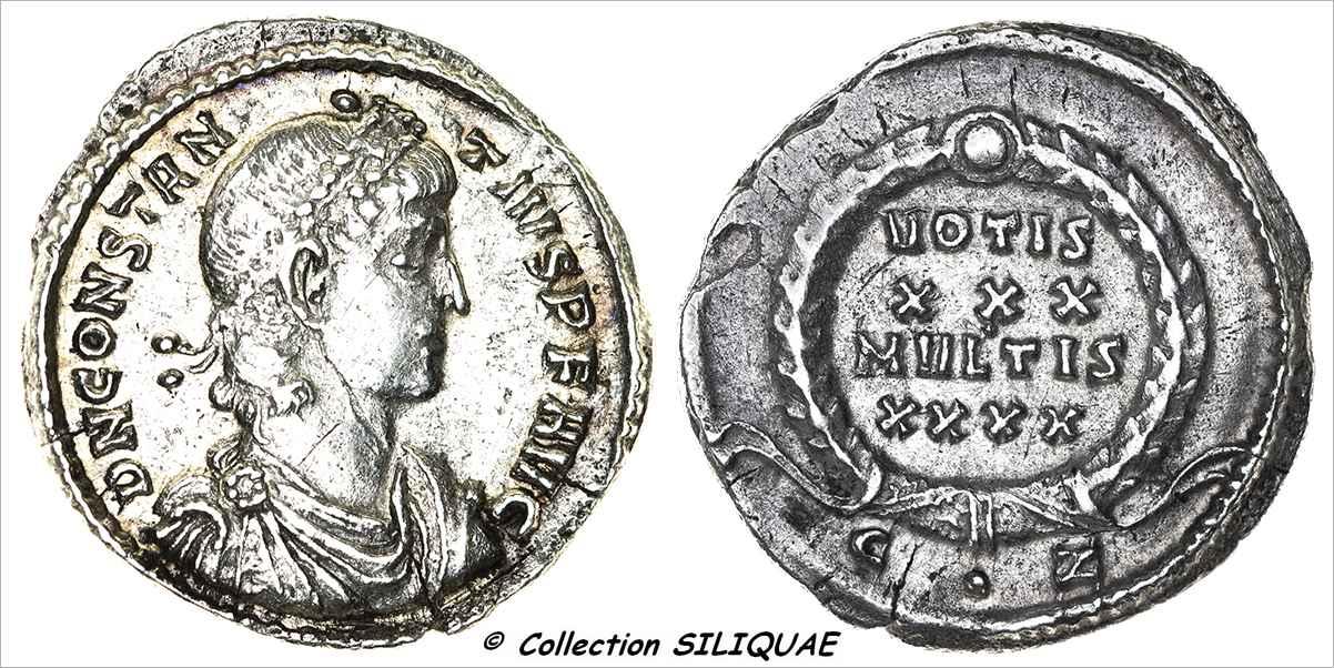 SILIQUE : CONSTANCE II RIC VIII.CO.133(07) (01152) 01152