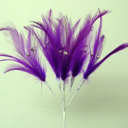 VIOLET Purple_diamante_feathers