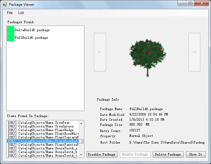 Savoir utiliser Merlin pour trier ses fichiers (Sims3Pack et Packages) Screenshot