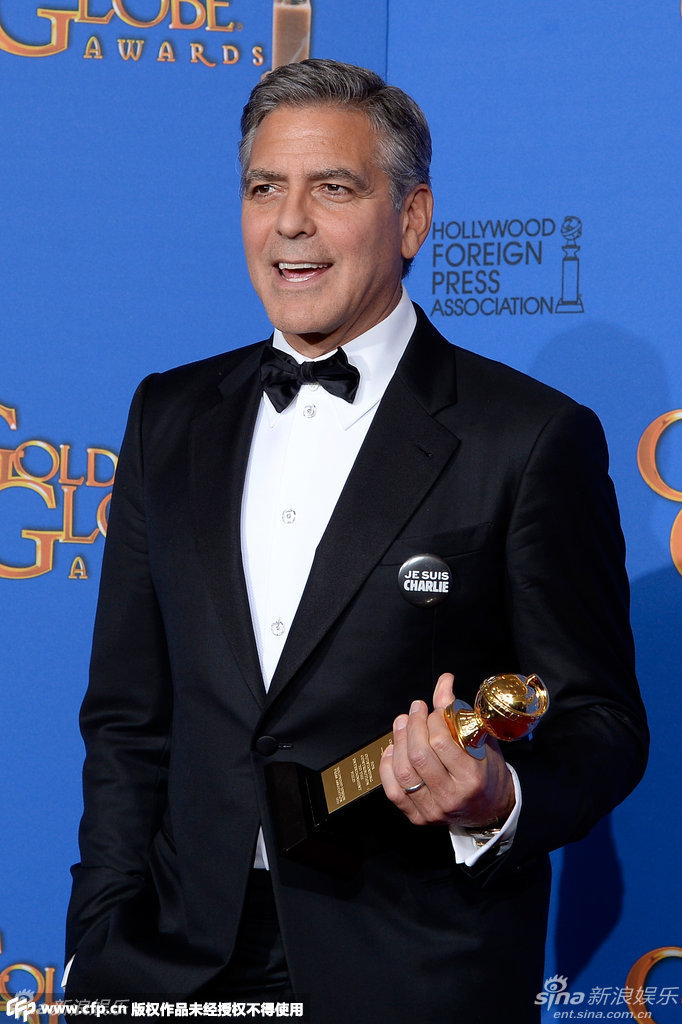 George Clooney at the Golden Globes January 2015 - Page 5 704_1528347_841877