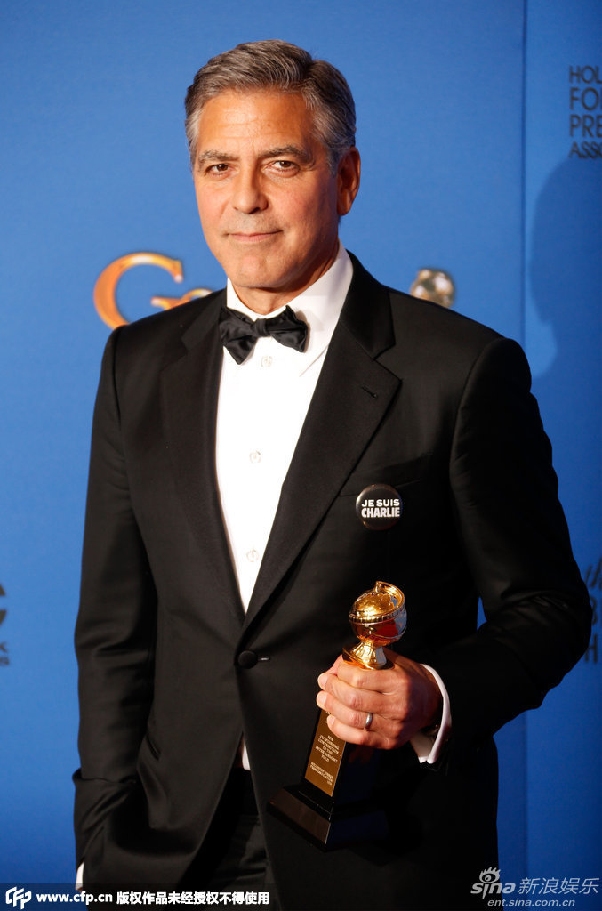 George Clooney at the Golden Globes January 2015 - Page 5 704_1528352_300047