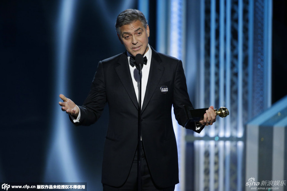 George Clooney at the Golden Globes January 2015 - Page 5 704_1528411_889614