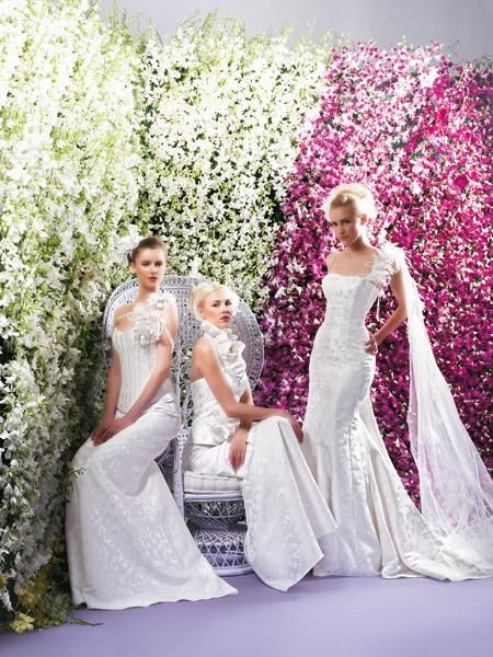 فساتين الزفاف بالالوان ولا اروع 2_0
