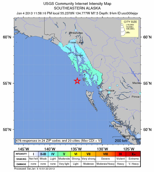 Powerful 7.5 magnitude earthquake strikes southeastern Alaska 010513_earthquake