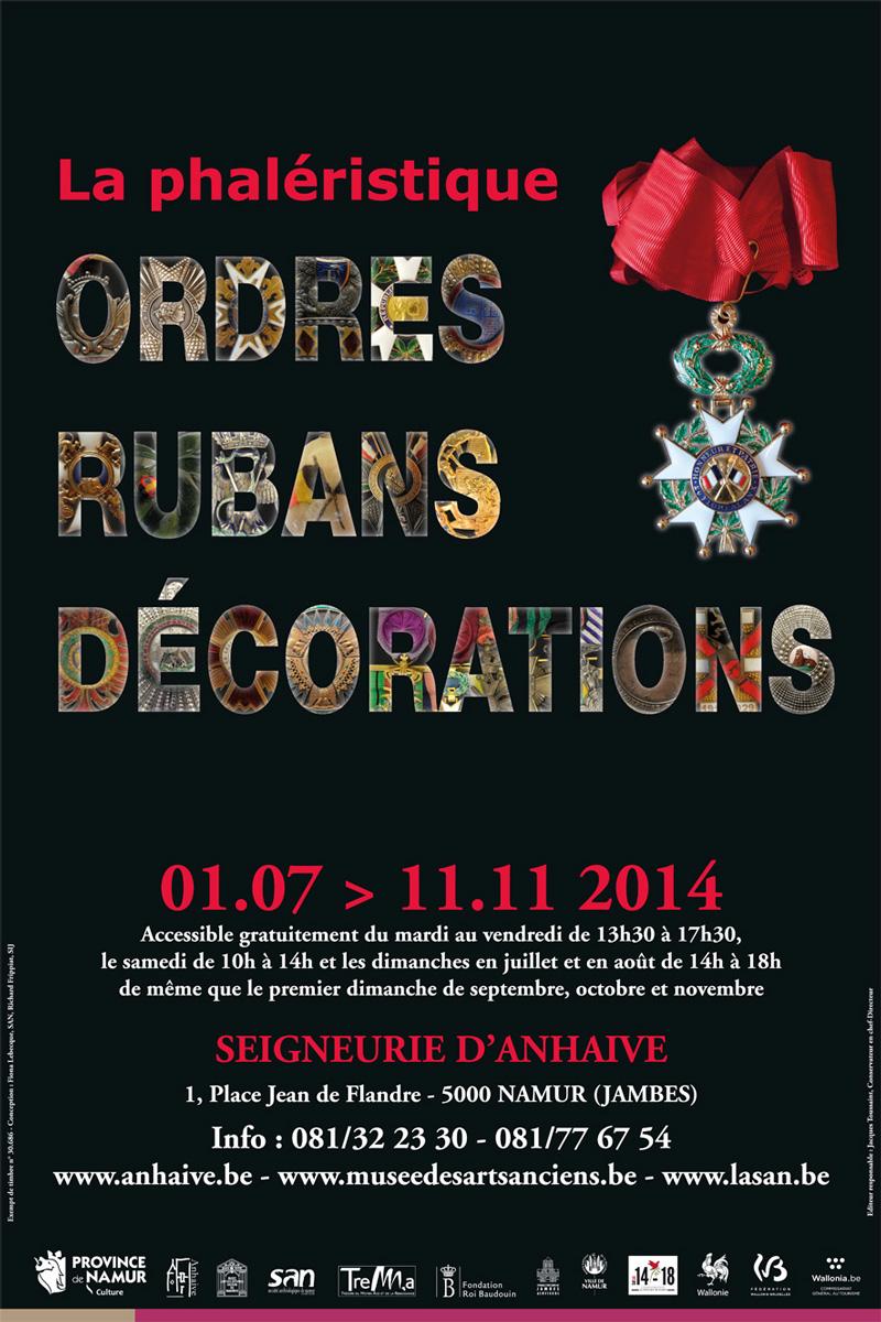 EXHEBITION : Phaléristique 1/7/2014 -> 11/11/2014 Jambes (Namur) Affiche-phaleristique