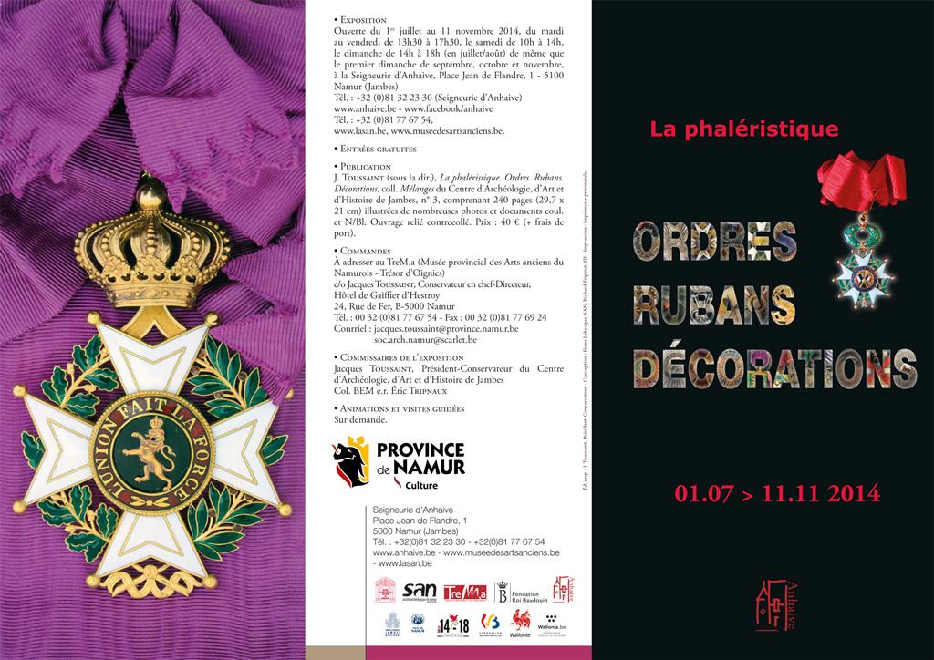EXHEBITION : Phaléristique 1/7/2014 -> 11/11/2014 Jambes (Namur) Depliant-phaleristique-1