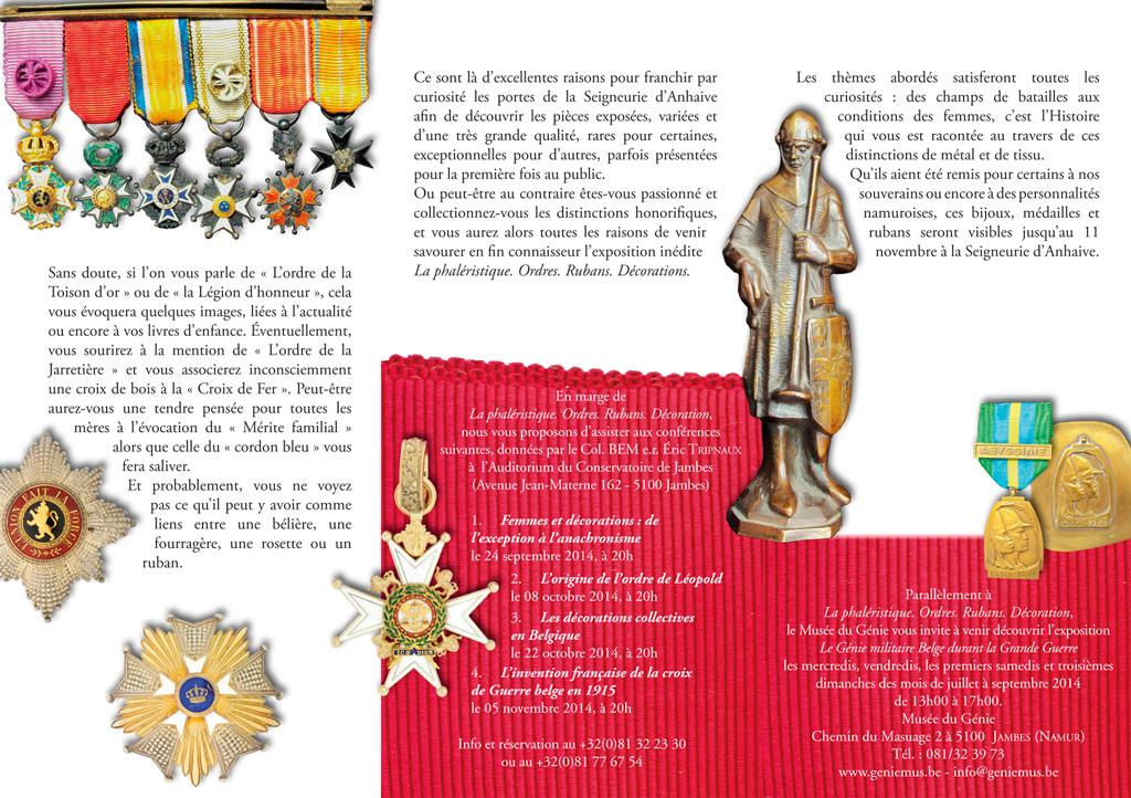 EXHEBITION : Phaléristique 1/7/2014 -> 11/11/2014 Jambes (Namur) Depliant-phaleristique-2