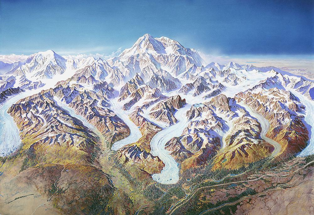 Najviše planine sveta Denali_crtez