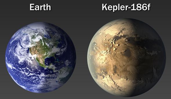 Earth-sized planet found in star's habitable zone 490 light years away Kepler186f_earth.jpg.CROP.original-original