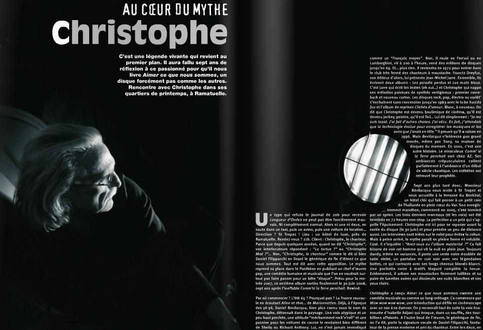 «Cette faille que j'ai, je l'aime bien»: entretien tablette avec Christophe Christophelongueur
