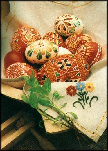 Farbanje jaja kao umetnost Easter_card