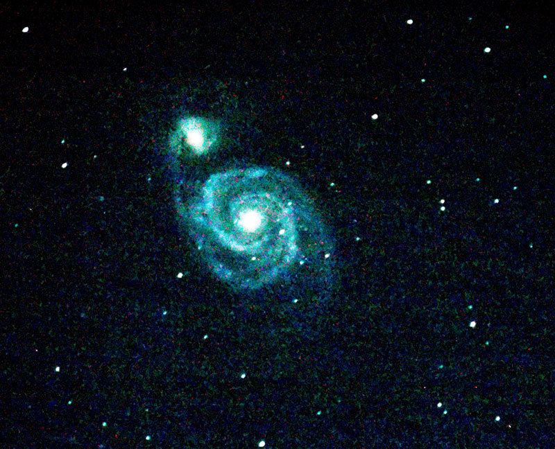 Observation du 15 Fevrier 2008 à 19h Berthinchamp M51-15-feb-08